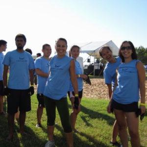Retro cotton t-shirt group front
